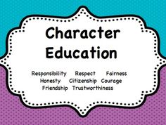 Character Education Resources