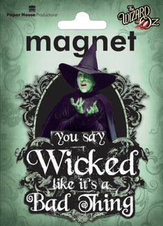 Wizard of Oz Wicked Witch Magnet