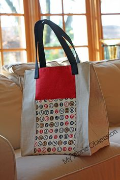 Jane Market Tote. Pattern is $6.