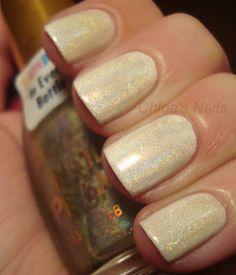 China Glaze White on White, and Sally Hansen Nail Prisms Diamond