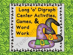 Halloween Long o Digraph Activities, Games, Word Work-Fall Theme from Jan Hayden Smiling in Second on TeachersNotebook.com -  (25 pages)  - Halloween Long 'o' Digraph Activities, Games, Word Work-Fall Theme