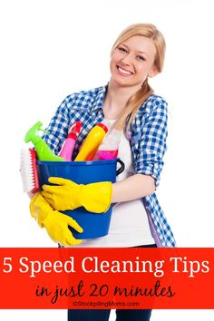 5 Speed Cleaning Tips and Tricks to help you quickly and easily clean your home. These speed cleaning tips will also help you maintain a tid...