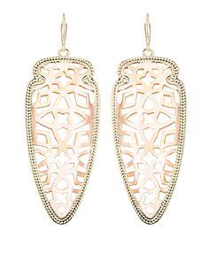 spear earring, rose gold