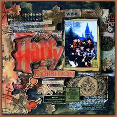 harry potter scrapbooking, scrapbook disney, scrapbook idea