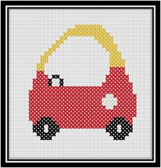 Toddler Car ... a free cross stitch chart for you!