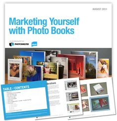Free guide to marketing yourself with photo books.