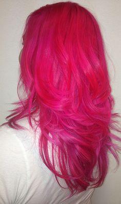 hair, hair color, pink hair, pink
