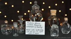 Smelling Jars from The Night Circus