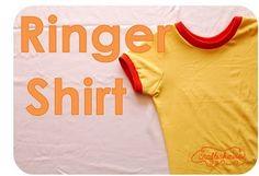 ringer shirt tutorial