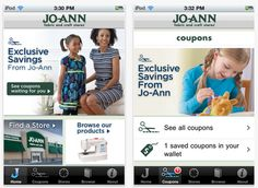 Download the Joann's app to your smartphone and never print your coupons again! HOORAY!