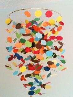 Confetti crib mobile. So colorful, I love it!