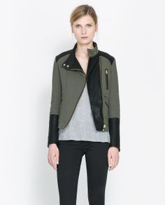 QUILTED CROSSOVER JACKET from Zara