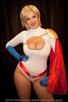 Sexy Powergirl cosplay