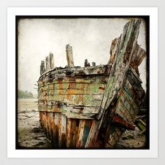 Boat Wreck #8 Art Print by Marc Loret - $18.00