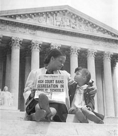 Mother and daughter in the aftermath of the Supreme Court's decision in Brown v. Board of Education, 1954.