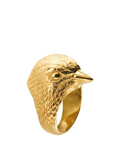 21DGRS BIRD GOLD PLATED RING