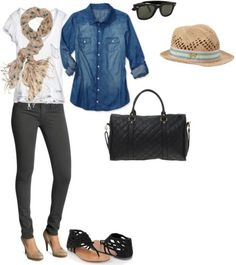 Travel outfit inspired by Leighton Meester