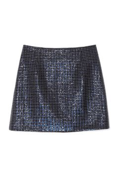 Marc Jacobs Grey Mini Plaid Sequins Highwaisted Mini Skirt