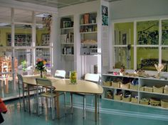 Environment as the Third Teacher:  In Reggio Emilia based schools, the environment is considered the third teacher.  Instead of primary colors, cartoon characters and simple shapes, Reggio Emilia schools have beautiful photographs, artworks, live plants, flowers, and natural lighting.  As in Montessori Schools, supplies are organized and easily reachable for students to encourage creativity.