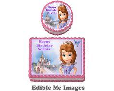 Disney Princess Sophia The First Birthday Party Cake Topper Cupcake Decoration | eBay