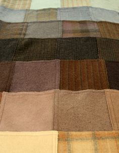 felted wool squares/quilt