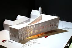 The Courthouse in Frederiksberg, Denmark by 3XN,  maquette, architectural model, maqueta, modulo