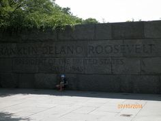 Jocelyn and Ollie visited the Franklin Delano Roosevelt Memorial, the largest presidential memorial at the National Mall at 7.5 acres.