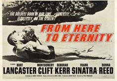 gotta see this movie movi poster, burt lancast, films, etern 1953, classic film, favorit movi, posters, classic movi, south florida