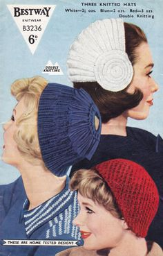 knitting patterns, knitted hats, hat patterns, hat 1950s, ladi hat, knitting hats, knit pattern