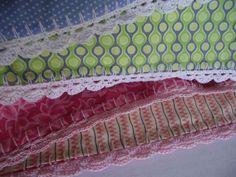 crochet fabric pillowcase