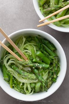 Cucumber Noodles with Asparagus and Ginger Scallion Sesame Sauce by gourmandeinthekitchen #Cucumber_Noodles #Asparagus #Ginger #Sesame #GF #Healthy #Light