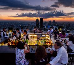 bangkok, thailand, from the vertigo grill and moon bar on the 61st floor of the banyan tree bangkok