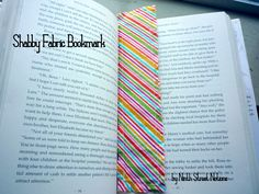 Shabby Fabric Bookmark Tutorial by Ninth Street Notions - great for using up scraps!