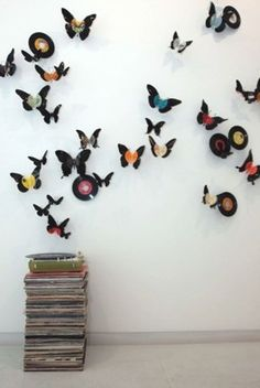 Fabulous diy old records into butterfly wall art