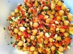 Chicpea and feta salad