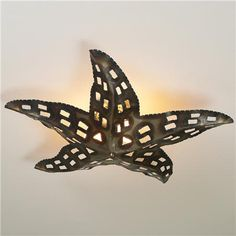 Starfish Ceiling Light.   My daughter would love this