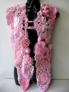 Another lovely freeform crochet shawl from Prudence Mapstone's Pink Project