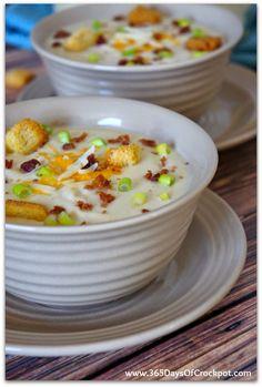 Slow Cooker Wisconsin Cauliflower Soup (Zupas Cafe Copy Cat Recipe)
