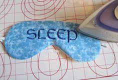 Sleep Mask by Stacy Schlyer for WeAllSew  #sewing  #diy  weallsew.com