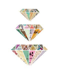 geometric diamond pattern, friends, diamonds, geometric pattern art, geometric diamond design, art prints, collages, inspir, diamond graphic design