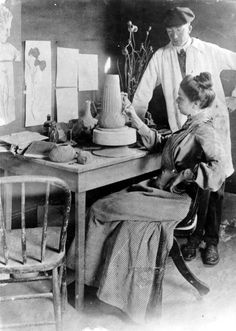 Artus and Anne Van Briggle - Van Briggle pottery was founded by Artus and Anne Van Briggle in 1900 in Colorado Springs, Colorado. Van Briggle began producing art pottery in 1901. Artus and Anne were both accomplished decorators for Rookwood pottery prior to starting Van Briggle. The Van Briggle's left Rookwood due to Artus's failing health. Artus suffered from tuberculosis and it was believed the climate and altitude change in Colorado would benefit his health.