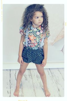 Dottie's+Bubble+Shorts+in+Navy+with+Green+Dots+from+by+FleurandDot,+$48.00