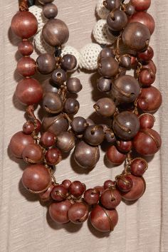T-Bags wooden beaded necklace