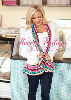 Sweater with crochet edging