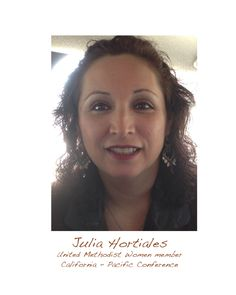 """As a leader, Julia is always ready to share her gifts and knowledge. She writes programs for United Methodist Women resources. She also shares how important it felt, both at the local organization and conference team, to live our purpose because that helped her to be accepted in an new community.  She refers to United Methodist Women members as """"Awesome Sisters."""" - Marisa Villarreal"""