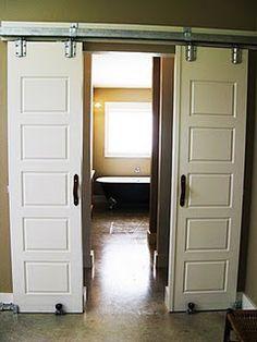 Bathroom door? barn door installation