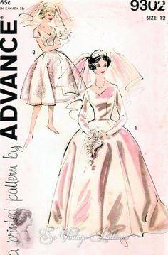 vintage bridal dress pattern