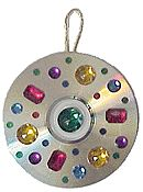 holiday, cd crafts for kids, sun catcher, christma idea, cd christma, cd ornament, christma craft, christmas ornaments, cords