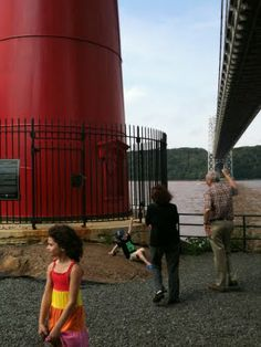 Visiting the Little Red Lighthouse under the George Washington Bridge