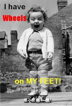 roller skates- so cute! This is how I feel when I roller skate/blade.